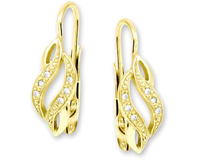Náušnice ze žlutého zlata s krystaly 239 001 00611
