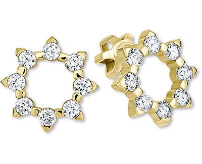 Zlaté sluníčkové náušnice s krystaly 239 001 00887 - 1,95 g
