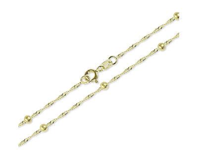 Zlatý náhrdelník Lambáda s kuličkami 42 cm 273 115 00006 - 1,75 g