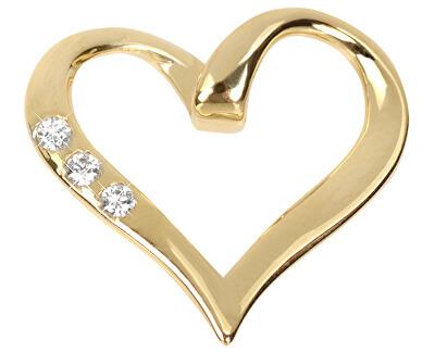 Inimă cu pandantiv din aur cu cristale 249 001 00354