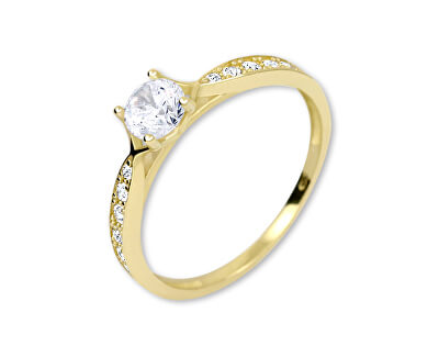 Brilio Zlatý prsten s krystaly 229 001 00753 - 1,30 g