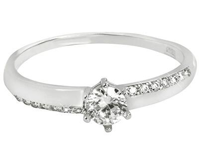 Zlatý zásnubní prsten s krystaly 229 001 00762 07