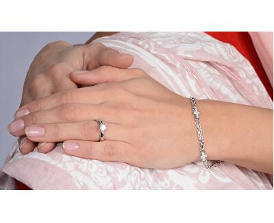 Stříbrný zásnubní prsten 426 001 00401 04