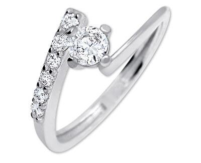 Brilio Silver Pěkný zásnubní prsten 426 001 00435 04 - 1,65 g