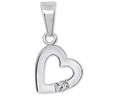 Romantický přívěsek Srdce s krystalem 446 001 00367 04