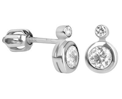 Stříbrné náušnice s čirými krystaly 436 001 00440 04 - 1,27 g