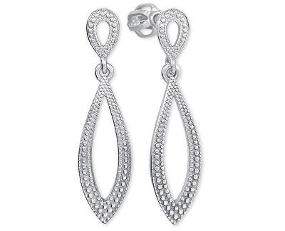 Stříbrné náušnice s krystaly 431 001 02734 04