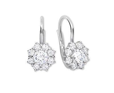 Stříbrné náušnice s krystaly 436 001 00322 04 - čiré