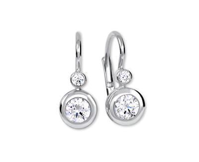 Stříbrné náušnice s krystaly 436 001 00330 04