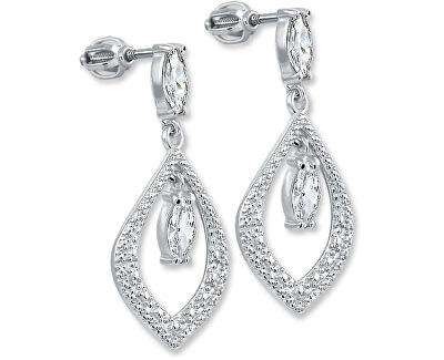 Stříbrné náušnice s krystaly 436 001 00412 04