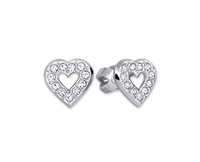Brilio Silver Stříbrné náušnice Srdce 438 001 00614 04 - 0,97 g