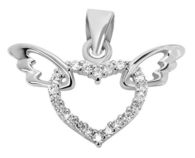 Stříbrný přívěsek Srdce s křídly 446 158 00041 04