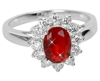 Brilio Silver Stříbrný prsten s červeným krystalem 5121615R