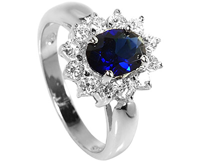 Brilio Silver Stříbrný prsten s modrým krystalem 5121615S