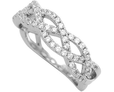 Brilio Silver Stříbrný prsten se zirkony 31G3035
