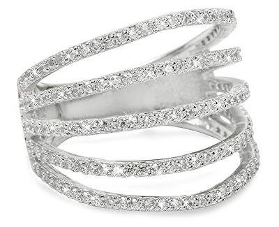 Brilio Silver Stříbrný prsten se zirkony 31G3098