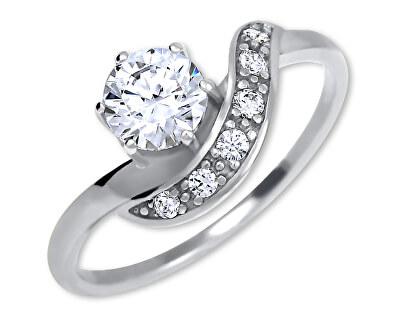 Strieborný zásnubný prsteň 426 001 00534 04