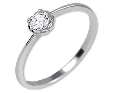 Stříbrný zásnubní prsten 426 001 00538 04