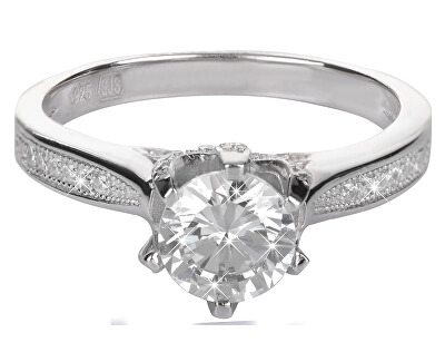 Brilio Silver Stříbrný zásnubní prsten 426 158 00075 - 2,50 g