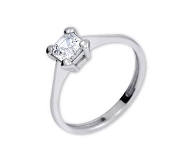 Stříbrný zásnubní prsten s krystalem 426 001 00427 04 - 1,62 g