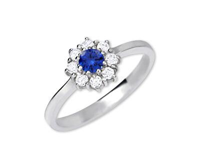 Brilio Silver Stříbrný zásnubní prsten 426 001 00432 04 - modrý - 2,30 g