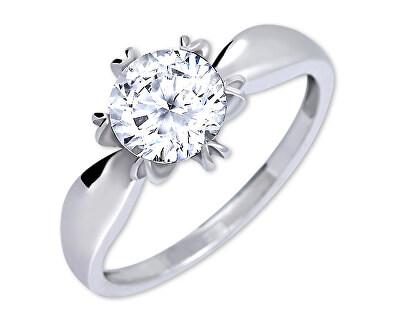 Brilio Silver Výrazný zásnubní prsten 426 001 00502 04 - 2,13 g