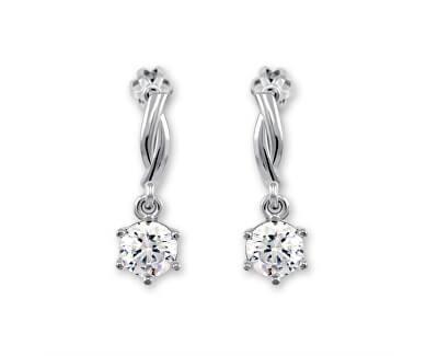 Stříbrné náušnice s krystalem 436 001 00362 04