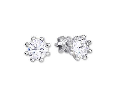 Stříbrné náušnice s krystalem 436 001 00417 04