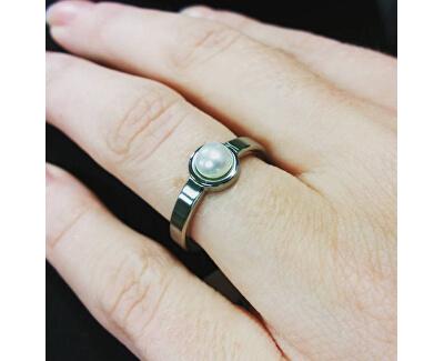 Titanový prsten s perlou 0137-01