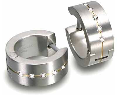 Titanové náušnice s diamanty 0503-11