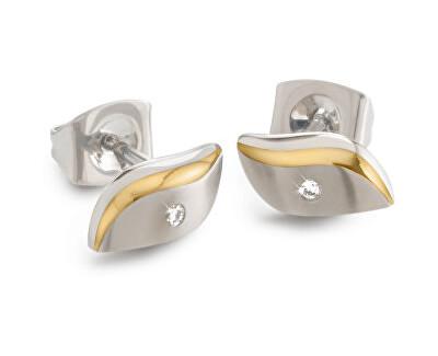 Cercei de titan placat cu aur cu diamant 05044-04
