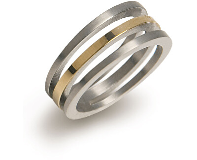 Pozlacený titanový prsten 0128-02