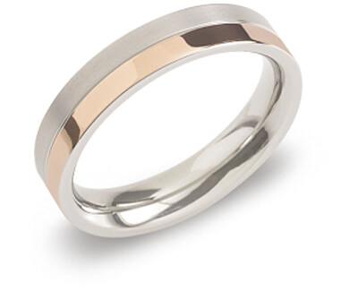 Pozlátený titánový snubný prsteň 0129-07