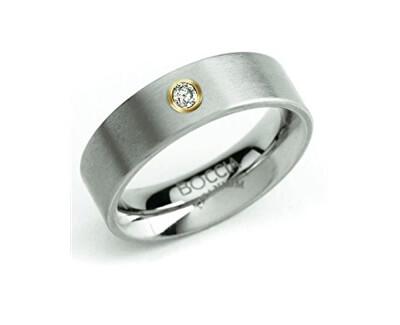 Boccia Titanium Snubní titanový prsten s diamantem 0101-24