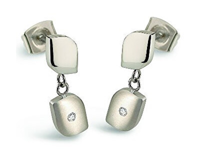 Boccia Titanium Titánové náušnice s diamantmi 05014-03