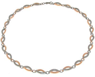 Titanový bicolor náhrdelník 0876-03
