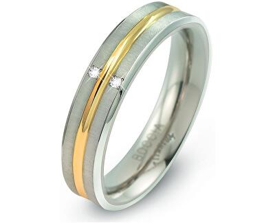 Boccia Titanium Titanový bicolor prsten s brilianty 0144-01