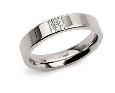 Boccia Titanium Titanový prsten s diamanty 0121-02