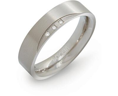 Boccia Titanium Verighetă din titan cu diamante 0138-02
