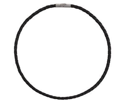Kožený prepletený náhrdelník 0858-01