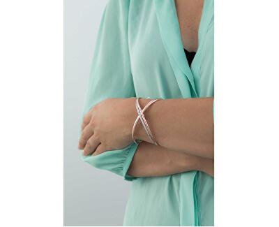 Otevřený náramek se zirkony Ribbon Mini BBN16