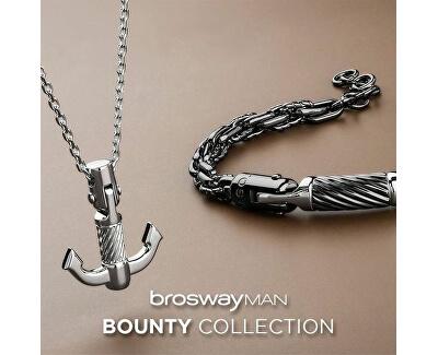 Pánsky oceľový náhrdelník s kotvou Bounty BOU04