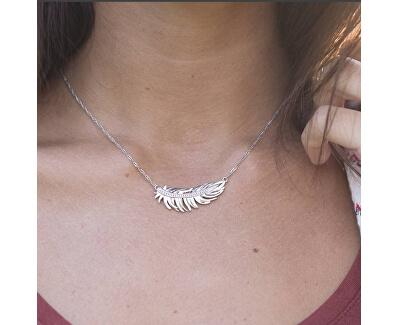 Romantický náhrdelník s peříčkem Plume BUM01