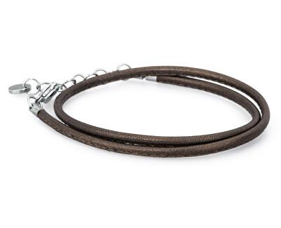 Brosway Hnedý kožený náramok Bracciali BBR31