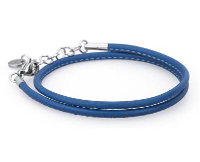 Brosway Modrý kožený náramok Bracciali BBR34