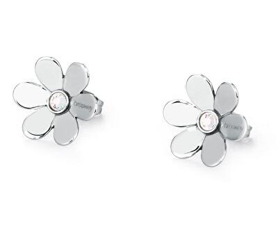 Oceľové náušnice kvetinky Jardin BJR22