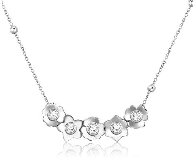 Ocelový náhrdelník Ikebana BKE07