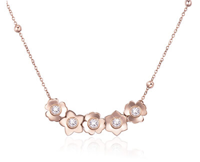 Pozlacený náhrdelník Ikebana BKE08