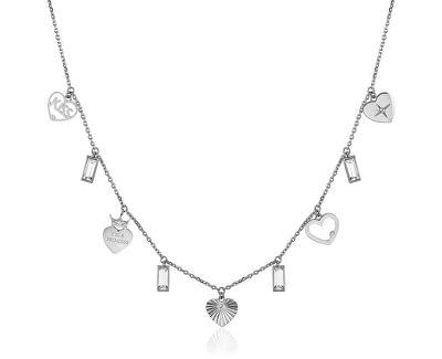Ocelový náhrdelník s přívěsky Chant BAH26