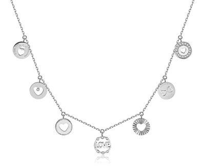 Ocelový náhrdelník s přívěsky Chant BAH27